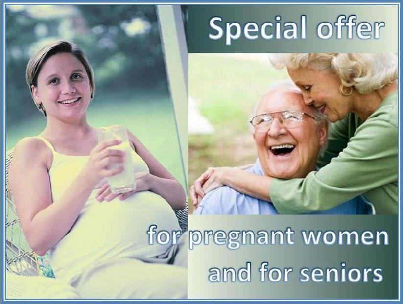 Special offer for pregnant women and for seniors